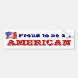 Fier d'être un Américain Autocollant Pour Voiture