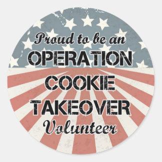 Fier d'être un autocollant de volontaire (réglé de