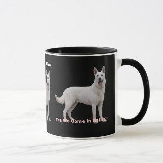 Fier d'être un berger allemand blanc ! mug