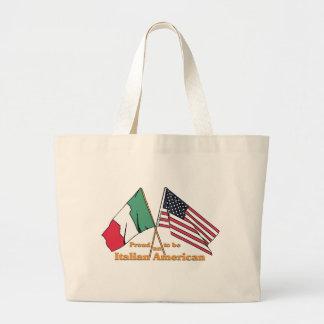 Fier d'être un Italien-Américain Grand Sac