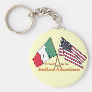Fier d'être un Italien-Américain Porte-clé Rond