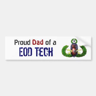 Fier, technologie d'EOD, papa d'EOD Autocollant De Voiture
