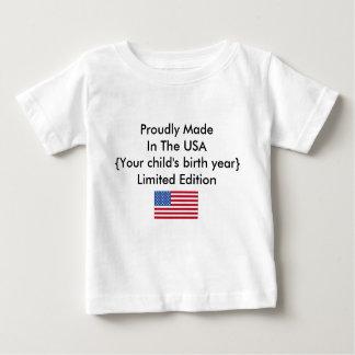 Fièrement fait dans la personnaliser d'édition t-shirt pour bébé