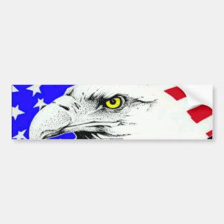 Fierté américaine Eagle et drapeau Autocollant De Voiture