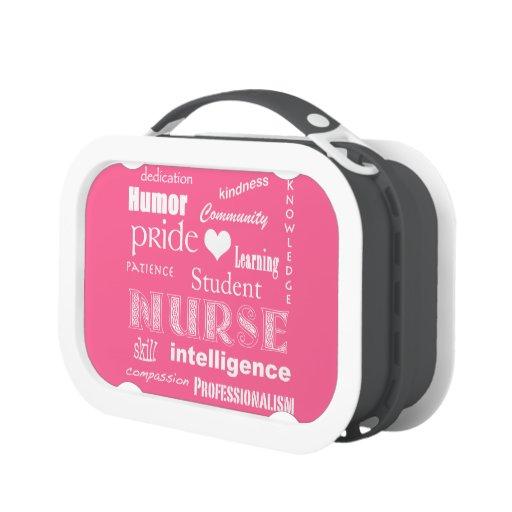 Fierté-Attributs d'élève-infirmière/rose bubble-gu