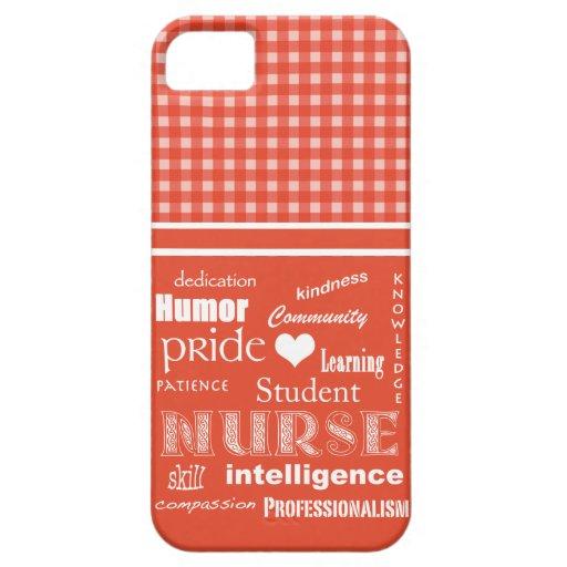 Fierté-Attributs d'élève-infirmière/saumon+Blanc Coques iPhone 5 Case-Mate