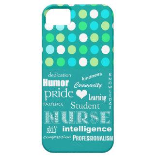 Fierté-Attributs d'élève-infirmière/vert bleu Polk Coques Case-Mate iPhone 5