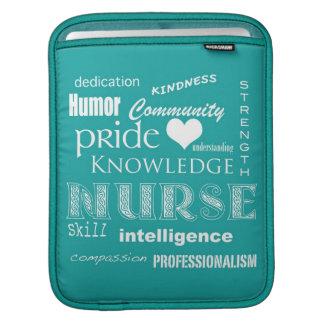 Fierté-Attributs d'infirmière/aigue-marine Poches Pour iPad