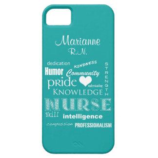 Fierté-Attributs d'infirmière+/Aqua nommé Étuis iPhone 5