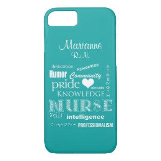 Fierté-Attributs d'infirmière+/Aqua nommé Coque iPhone 7