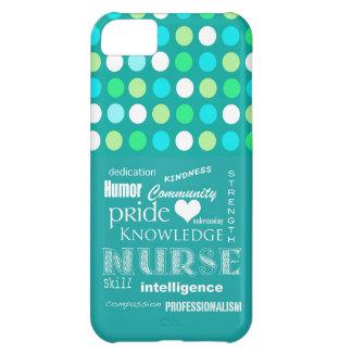 Fierté-Attributs d'infirmière/bleu de turquoise/à  Coques Pour iPhone 5C