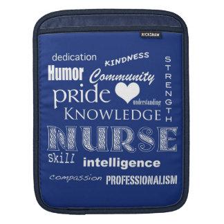 Fierté-Attributs d'infirmière/bleu marine Poches iPad