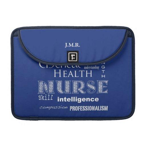 """Fierté-Attributs d'infirmière/Blueberry-13 """" Housse MacBook Pro"""