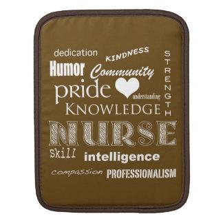 Fierté-Attributs d'infirmière/brun chocolat Housses iPad