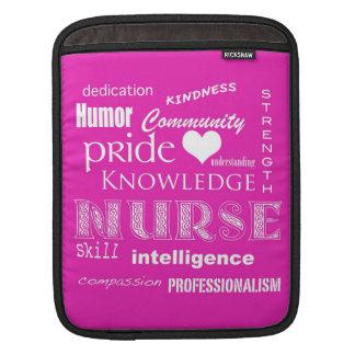 Fierté-Attributs d'infirmière/rose vibrant Poches Pour iPad