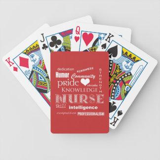 Fierté-Attributs d'infirmière/rouge de tomate Jeux De Cartes Bicyle