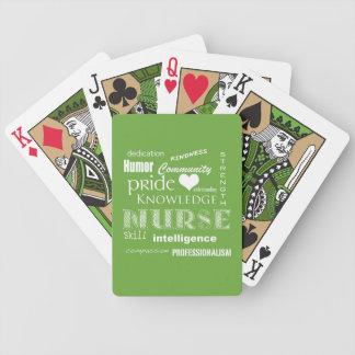 Fierté-Attributs d'infirmière/vert de chaux Cartes De Poker