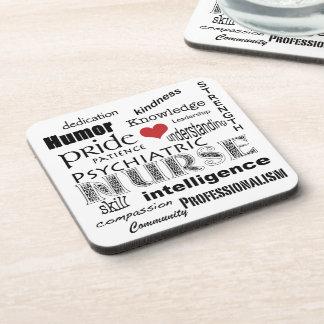 Fierté-Attributs psychiatriques d'infirmière+Coeur Sous-bock