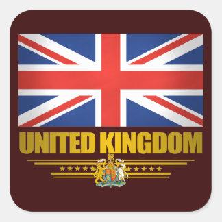 Fierté BRITANNIQUE Sticker Carré