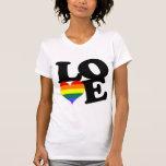 Fierté d'arc-en-ciel d'amour t-shirt