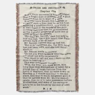 Fierté de Jane Austen et citation de littérature Couvre Pied De Lit