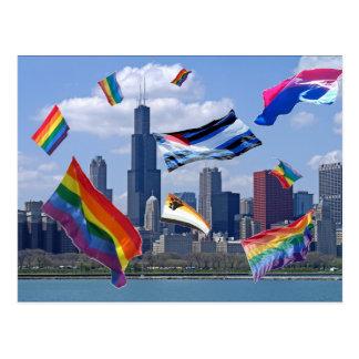 Fierté de vol au-dessus de Chicago Carte Postale