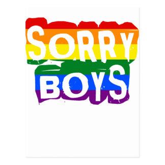 Fierté désolée des garçons LGBTQ Cartes Postales