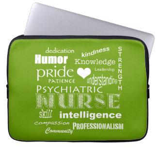 Fierté d'infirmière/vert psychiatriques d'Attribut Housses Pour Ordinateur Portable