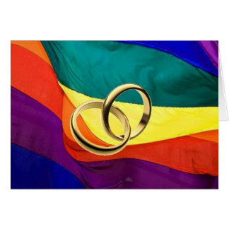 Fierté et mariage carte de vœux