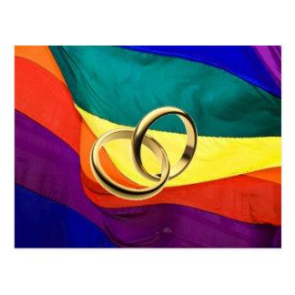 Fierté et mariage carte postale