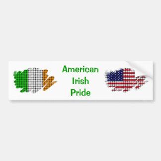 Fierté irlandaise américaine autocollants pour voiture
