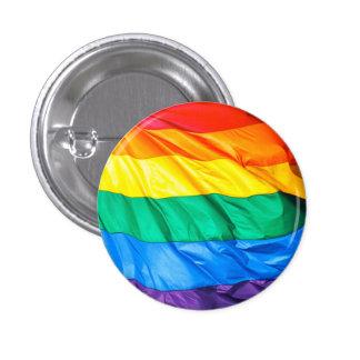 Fierté solide - plan rapproché de drapeau de gay badge rond 2,50 cm