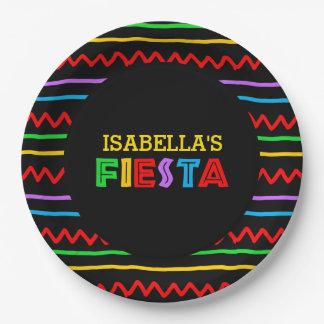 Fiesta personnalisée assiettes en papier