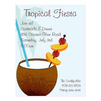 Fiesta tropicale, invitation de cocktail