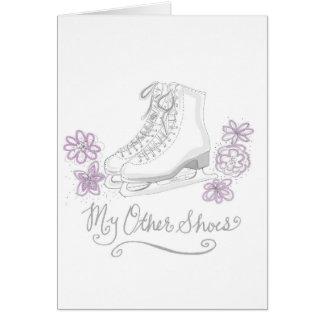 Figure carte de voeux d'anniversaire de patinage