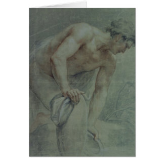 Figure d'un guerrier, en partie drapée, XVIIIème Cartes