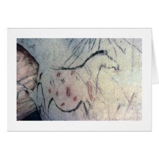 Figure d'une jument enceinte avec la ligne carte de vœux