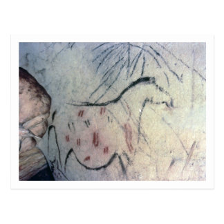 Figure d'une jument enceinte avec la ligne carte postale