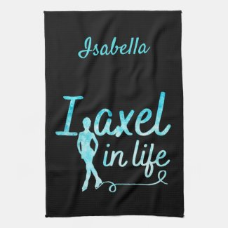Figure Skate blade Towel Axel in life frozen blue