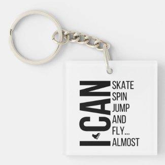 Figure skating keychain - I can skate