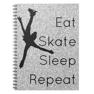 Figure skating notebook - silver Eat Skate Sleep