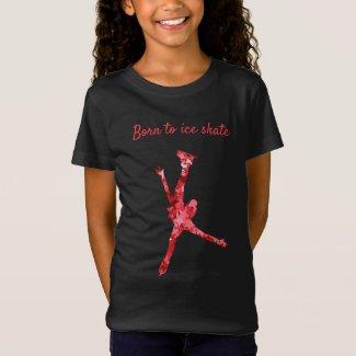 Figure skating T-Shirt - Girl Red Stars