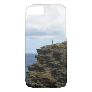Figure solitaire sur une falaise coque iPhone 7