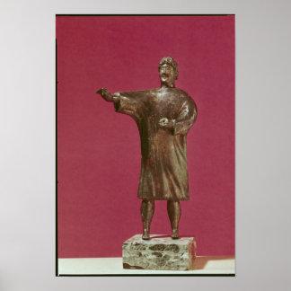 Figurine d un homme portant un sagum affiches