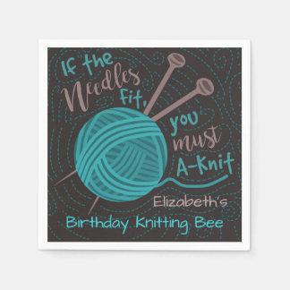 Fil à tricoter drôle de la partie | d'abeille de serviettes jetables