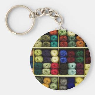 Fil à tricoter porte-clés