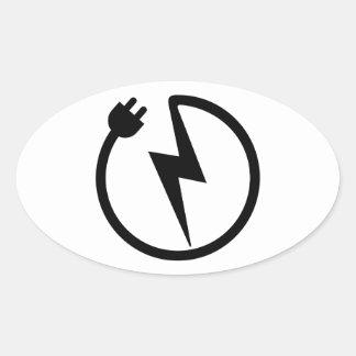 Fil d'électricien sticker ovale
