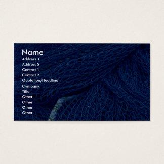 Filet de pêche bleu cartes de visite