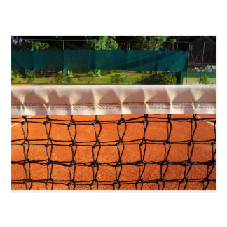 Filet de tennis carte postale