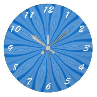 Filets bleus de Hanoukka Grande Horloge Ronde